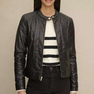 New Cole Haan Signature Vegan Leather Jacket
